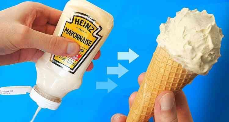 Une crème glacée au parfum Mayonnaise !