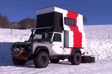land rover camping car