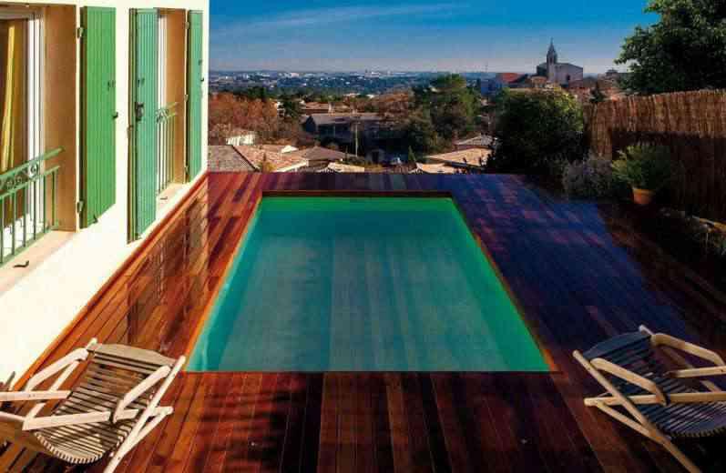 LIFT'O, le plancher flottant sur pour transformer votre piscine en terrasse