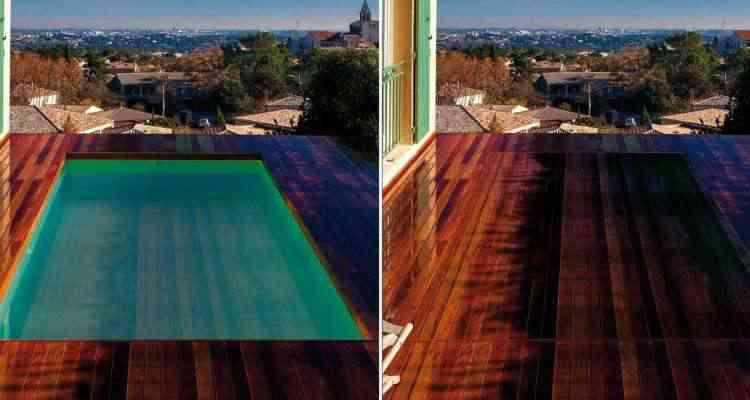 LIFT'O, le plancher flottant qui transforme votre piscine en terrasse
