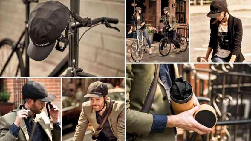 Park & Diamond, un casque de vélo pliable en forme de casquette