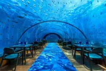 5.8 Undersea, un somptueux restaurant sous-marin aux Maldives