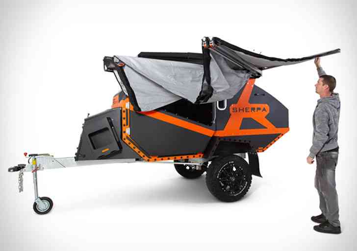 Sherpa Off-Road Camper, une impressionnante remorque de camping tout terrain
