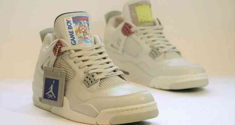 Des sneakers Air Jordan IV aux couleurs de la GameBoy de Nintendo