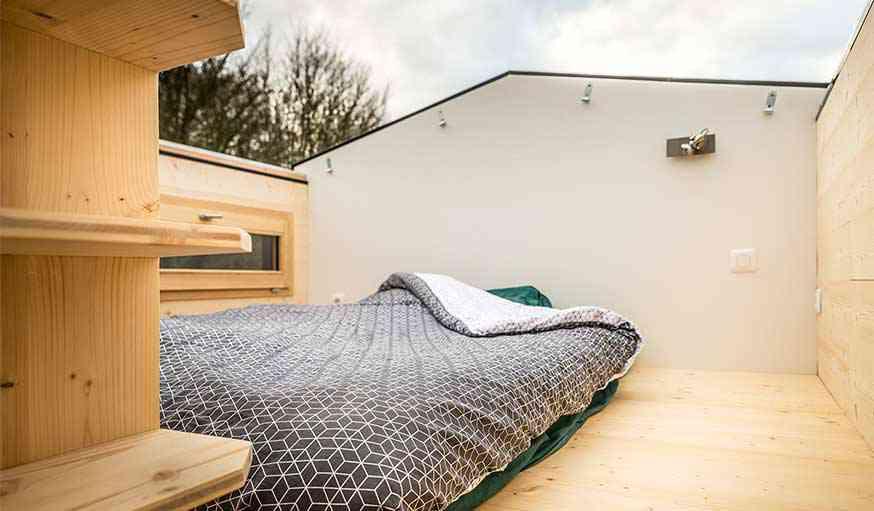 OptiNid, la Tiny House française à toits ouvrants