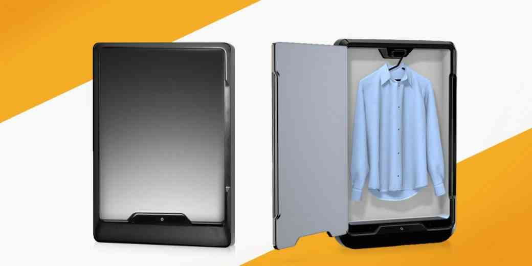 Tersa Steam, une machine à repasser automatique qui s'accroche au mur comme un miroir.