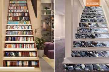 6 décorations d'escalier en trompe l'œil absolument géniales