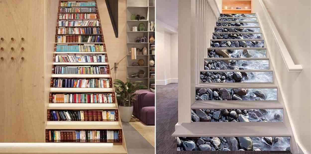 6 décorations d\'escalier en trompe l\'œil absolument géniales ...