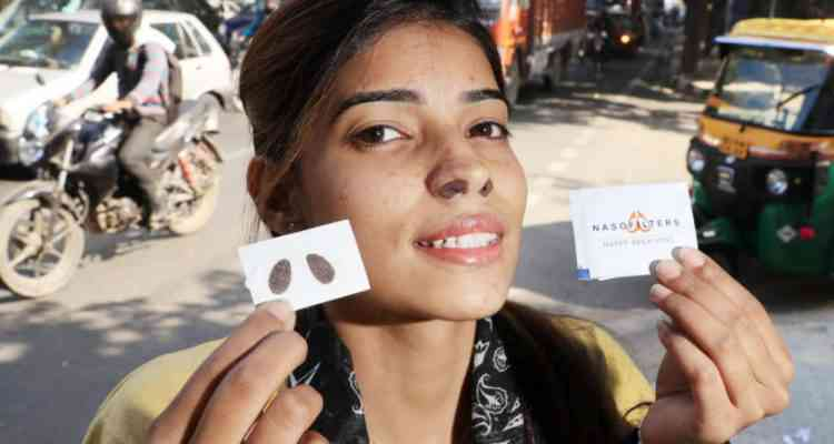 Une entreprise indienne invente un filtre nasal pour protéger nos poumons de la pollution