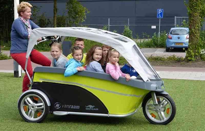 Gocab, le vélo-bus scolaire à 8 places