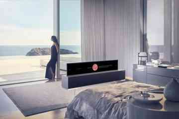 Cette barre de son dissimule un téléviseur LG enroulable de 165cm (4K)