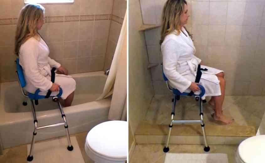 Une chaise coulissante qui aide les personnes à mobilité réduite dans la vie de tous les jours