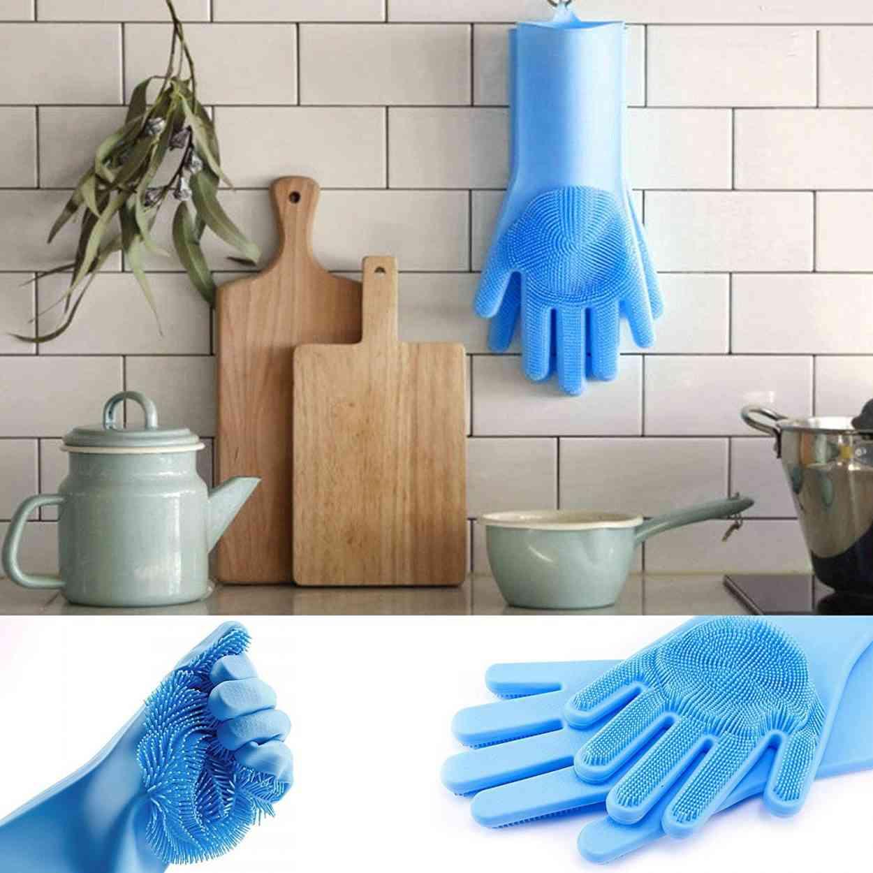Ces gants à picots donneraient presque envie de faire les corvées ménagères, presque...