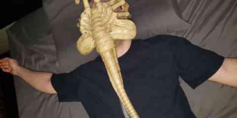 Il transforme son masque respiratoire en Alien Facehugger
