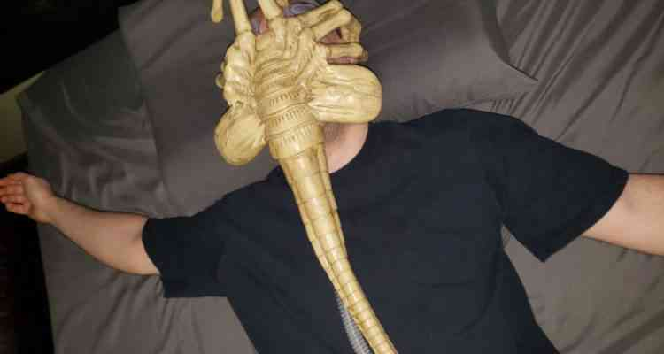 Il transforme son masque respiratoire en Alien Facehugger