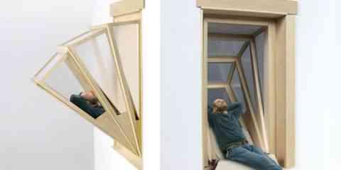 MoreSky, la fenêtre accordéon qui se transforme en balcon