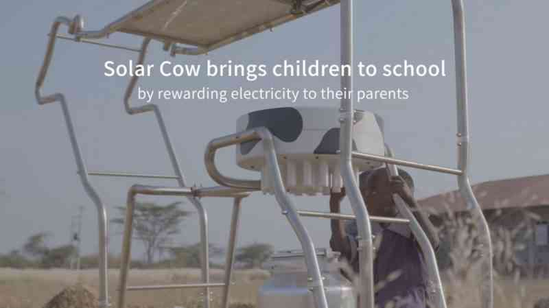 """Une """"vache solaire"""" pour faciliter l'accès à l'électricité en Afrique"""