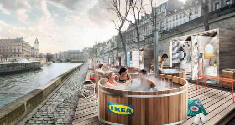 IKEA installe des bains suédois sur les quais parisiens