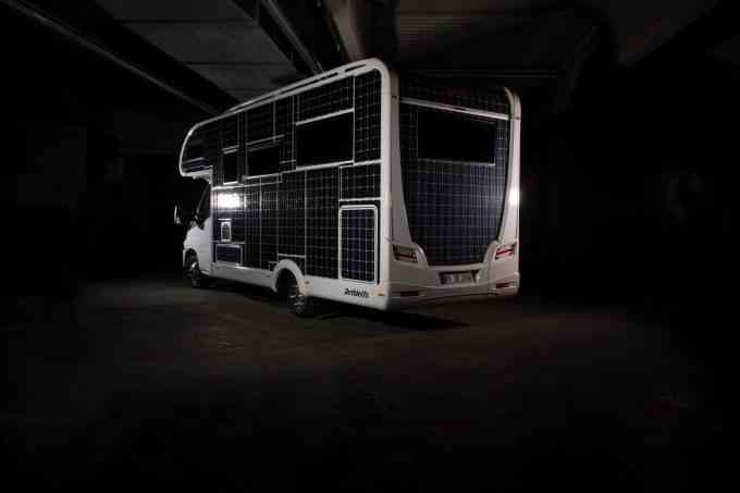 Dethleffs e.home, le camping car qui roule à l'énergie solaire !