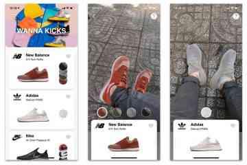 Wanna Kicks, l'application qui vous fait tester les sneakers en réalité augmentée
