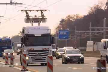 eHighway, la première autoroute qui recharge les camions électriques quand ils roulent
