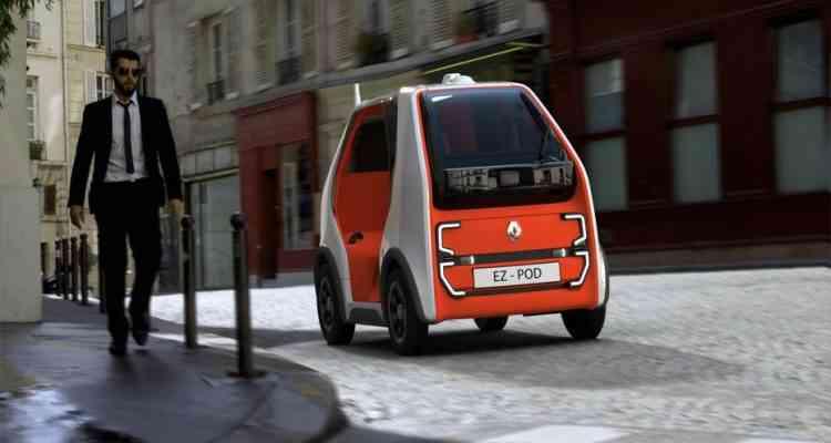 EZ-POD : Renault dévoile sont robot autonome pour le transport de personnes et de marchandises