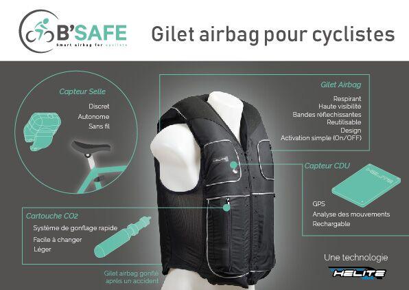 Helite dévoile le B'SAFE, le premier gilet airbag pour les cyclistes