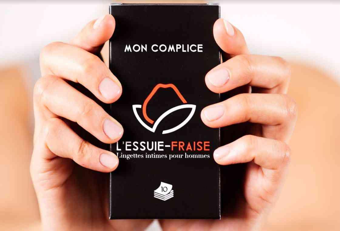 L'Essuie-Fraise, la lingette intime biodégradable spécialement adaptée à la peau des hommes