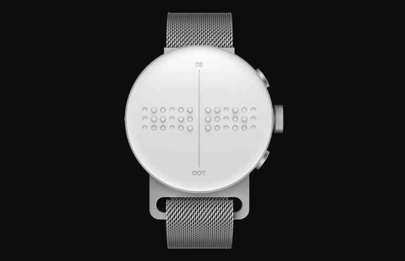 Dot Watch, la montre connecté qui affiche l'heure, les appels et les messages en braille