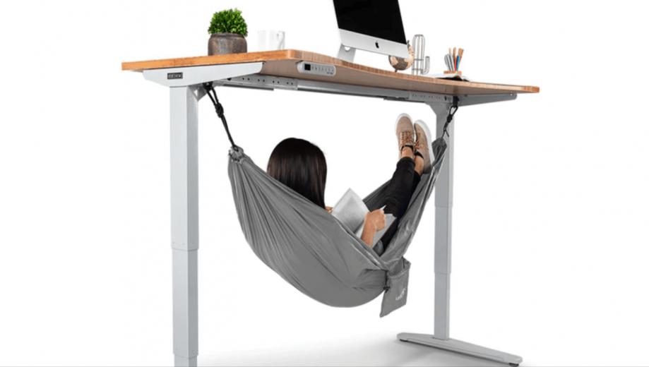Arrêtez tout : il existe un hamac qui s'installe directement sous votre bureau