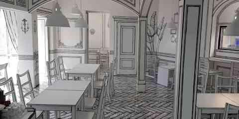 Ce café coréen plonge ses visiteurs dans une bande dessinée en noir et blanc