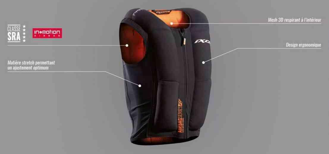 IX-Airbag U03, l'airbag moto qui se porte confortablement sous la veste !