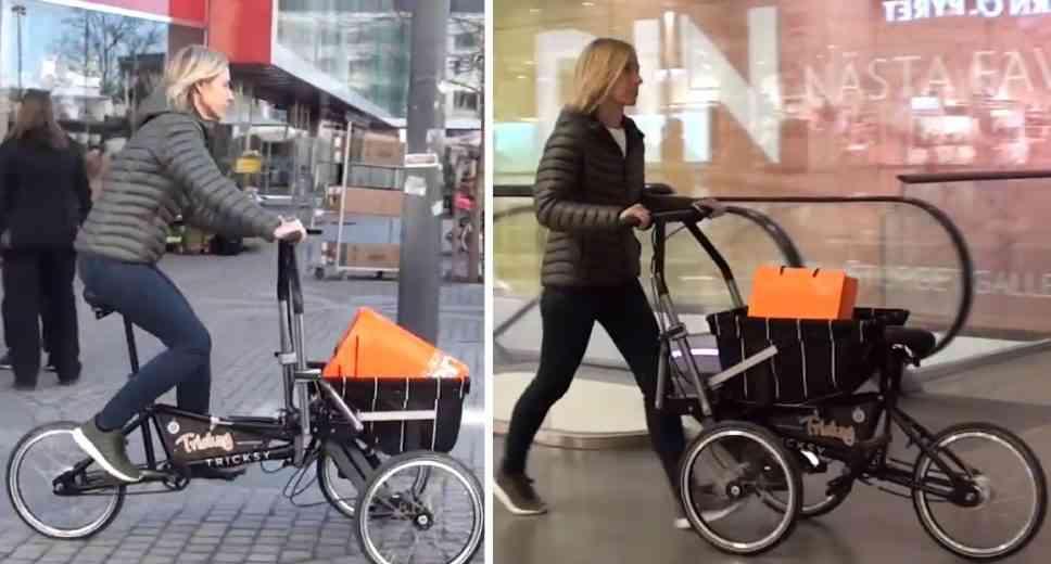 Tricksy, le mini vélo cargo qui se transforme en chariot (ou en poussette)