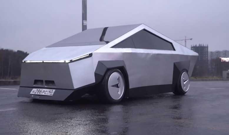 """La Cybertruck de Tesla a droit à une imitation russe """"presque parfaite"""""""