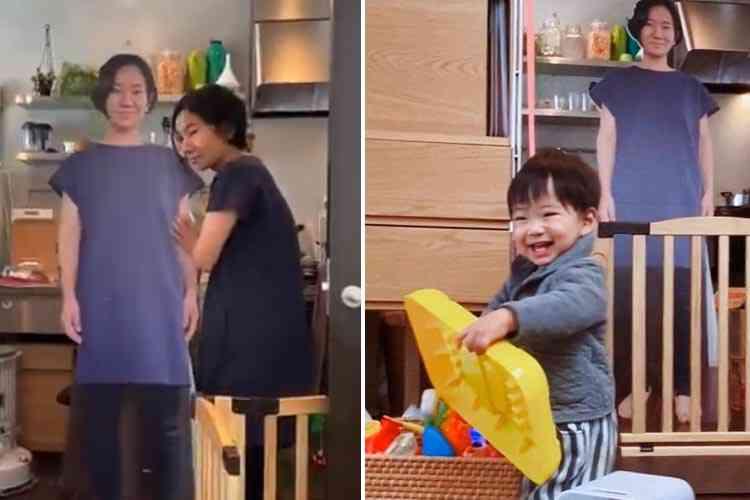 Son fils pleure quand sa maman quitte la maison, il fait imprimer des silhouettes grandeur nature de sa femme