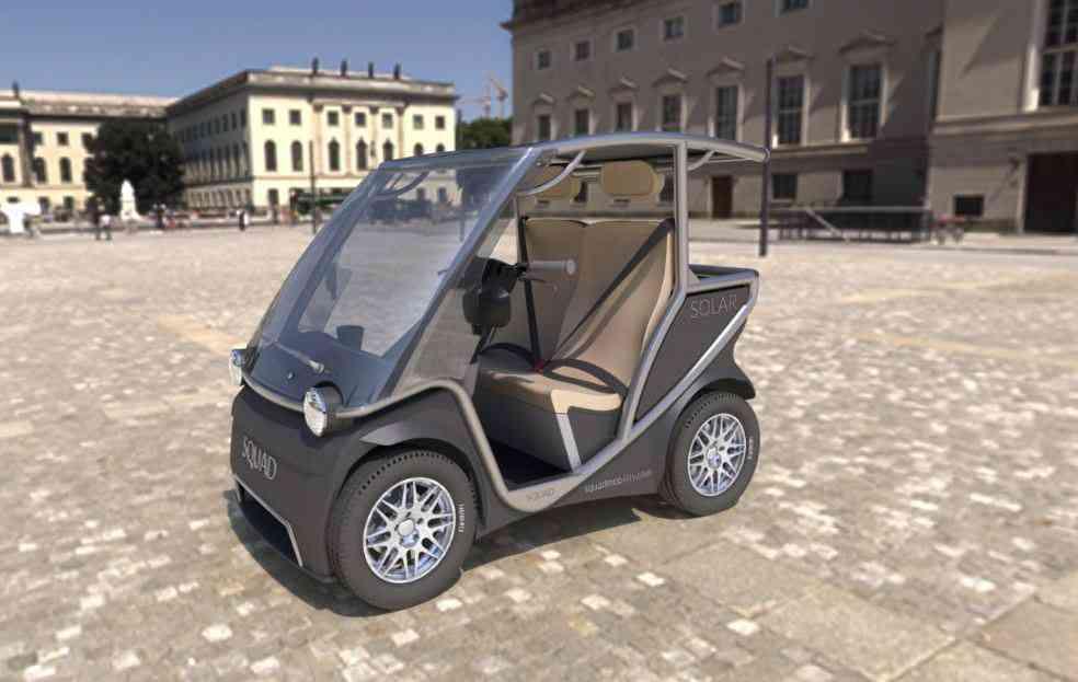 Solar Squad : une voiture électrique équipée d'un panneau solaire à 6.900 €