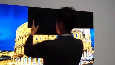 Photo de Samsung dévoile une TV modulaire dont la taille s'adapte en ajoutant des morceaux de dalles, comme un puzzle…