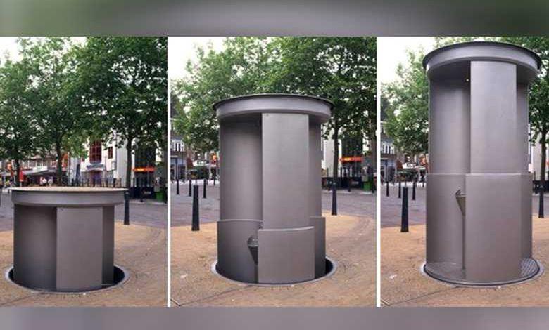 Paris teste les Pop-Up Toilet, des toilettes publiques escamotables la journée !