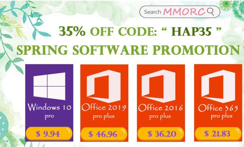 Vente de printemps : Windows 10 PRO à 9,94 $, Office 2019 Pro à 46,96 $, Office 2016 Pro à 36,20 $ et Office 365 à 21,83 $ sur MMORC.COM