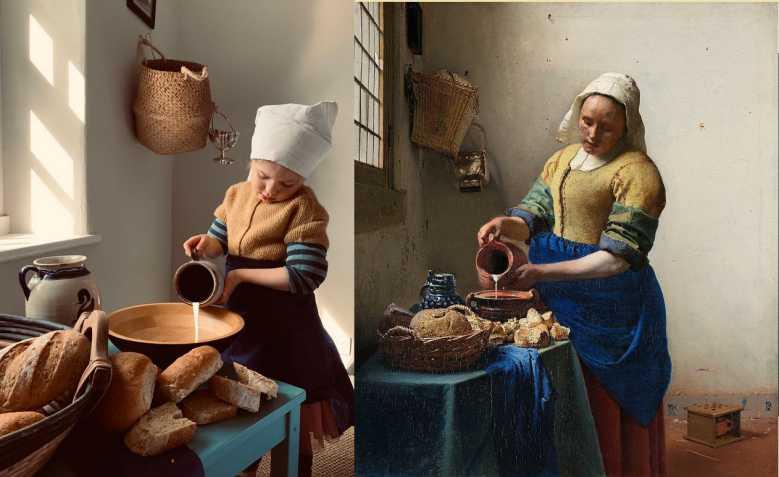 Le Getty Muséum lance un défi créatif : Reproduire des toiles célèbres avec les objets de la maison