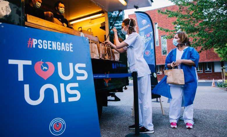 Le PSG mobilise tout son staff pour livrer des repas au personnel hospitalier avec des food trucks