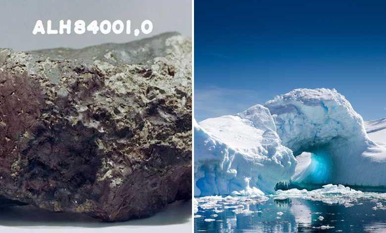"""Un morceau de Mars tombé en Antarctique contiendrait """"les ingrédients pour la vie"""""""