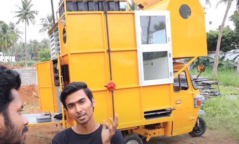 Inde : il transforme un tuk-tuk en mini camping-car tout confort !