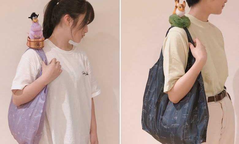 Ghibli dévoile d'adorables peluches qui se métamorphosent en sac de courseséco-responsable !