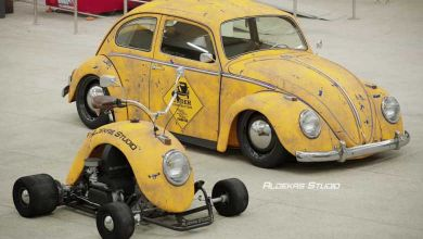Photo de Design : il transforme des ailes de Volkswagen Coccinelle en karting