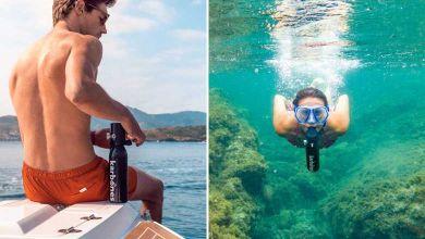 Karbones : une mini bouteille de plongée pour nager librement jusqu'à 12 minutes sous l'eau