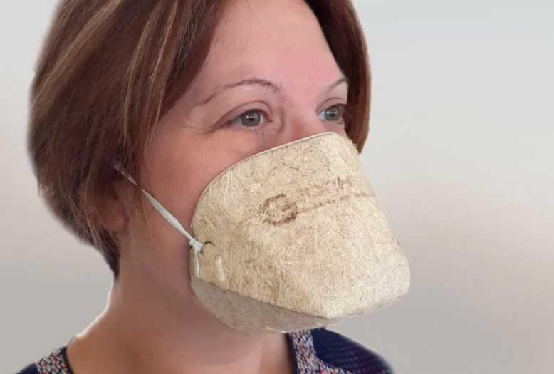 Géochanvre, un étonnant masque bio-compostable en fibres naturelles, 100% d'Origine Française