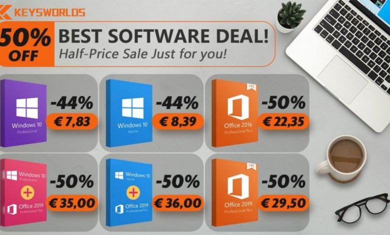 Keywords casse les prix : Windows 10 à 7,83 € seulement, Office 2019 à 29,49 € pendant une semaine !