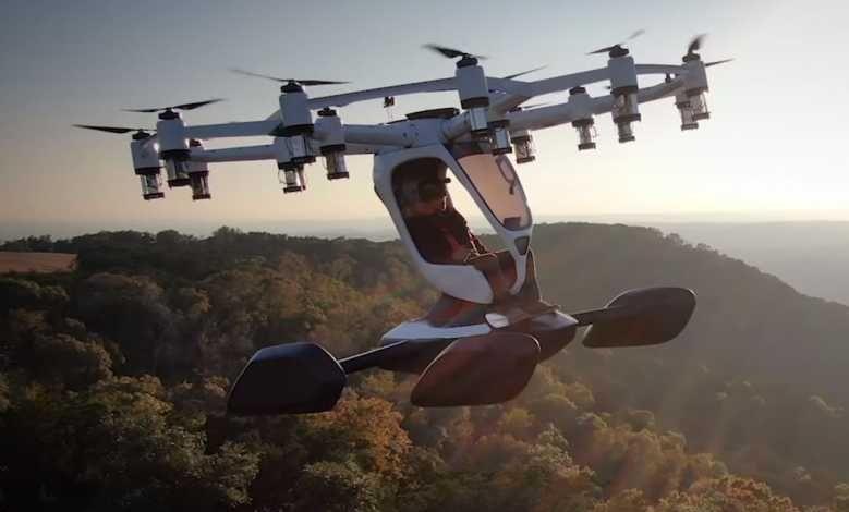 Hexa, un véhicule volant monoplace développé en partenariat avec l'US Air Force