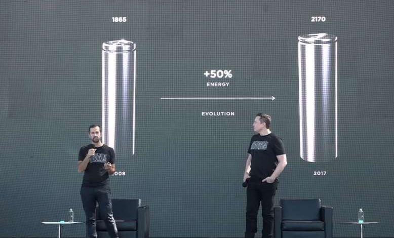 Tesla Battery Day : Musk annonce une nouvelle cellule lithium-ion plus puissante et moins couteuse